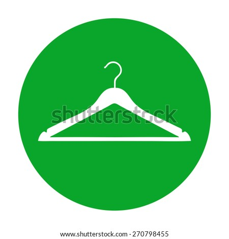Clothes Hanger icon. - stock vector