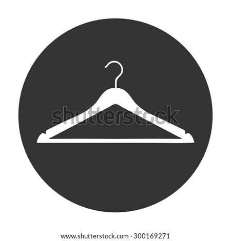 Clothes Hanger icon - stock vector