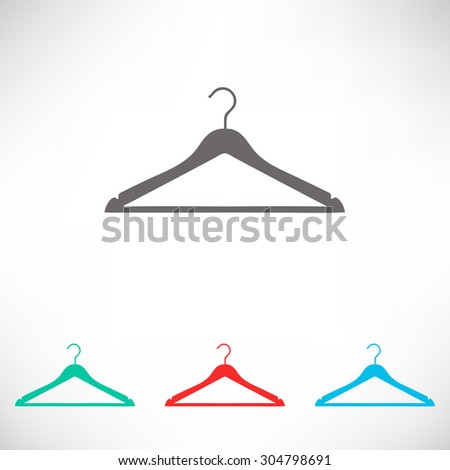 Clothes Hanger icon. Set of varicolored icons. - stock vector