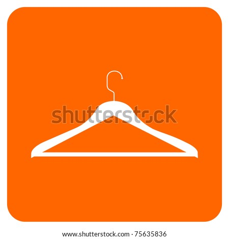 CLOTHES HANGER ICON. Vector available - stock vector
