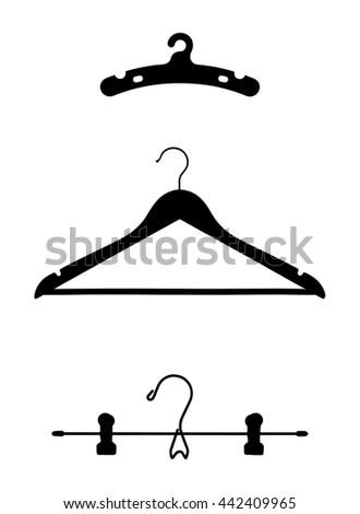 Clothes Hangers Vector Illustrations - stock vector
