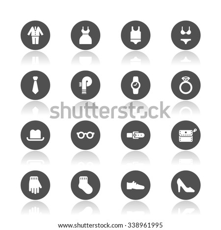 Clothes icons - stock vector