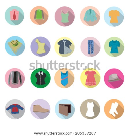 Clothes Icons set - stock vector