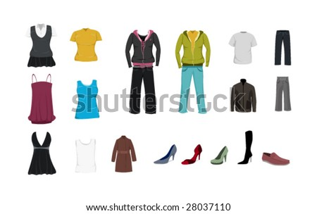 Clothes template pack - stock vector