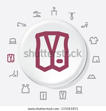 Clothing Icons - stock vector
