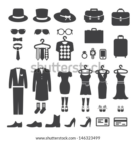 Clothing Store shopping Icon vector - stock vector
