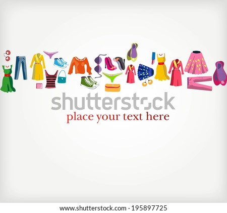 Clothing - vector background - stock vector