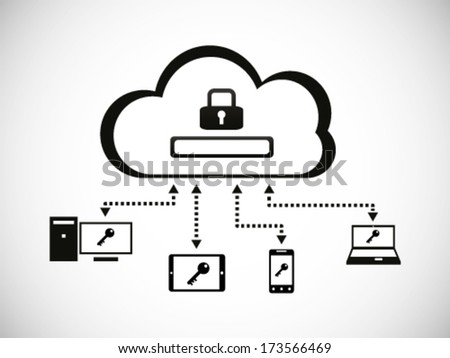 Cloud Account Mobile Devices Access Log In 2 - stock vector