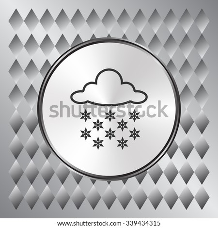 Cloud and snow icon, vector illustration. Flat design style - stock vector