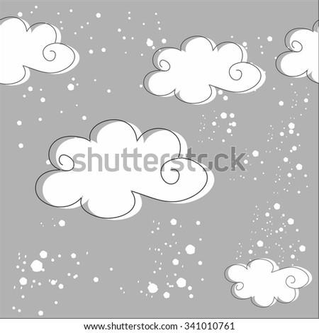 Cloud background - stock vector