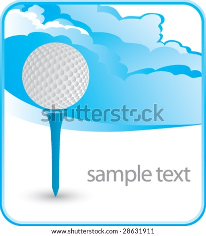 cloud background for golf - stock vector