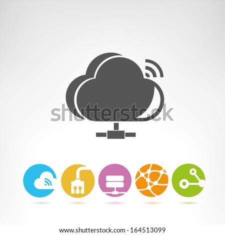 cloud computing - stock vector