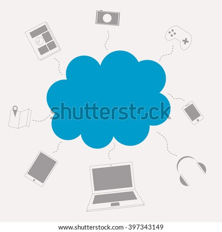 Cloud computing and internet of things concept