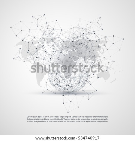 Cloud computing networks concept world map stock vector 2018 cloud computing and networks concept with world map global digital network connections technology background gumiabroncs Image collections