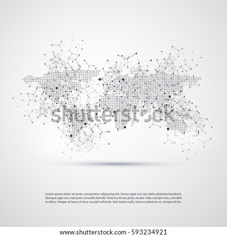 Cloud computing networks world map abstract stock photo photo cloud computing and networks with world map abstract global digital network connections technology concept gumiabroncs Image collections