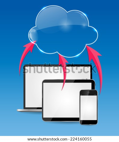 Cloud Computing Business Concept Vector Illustration - stock vector