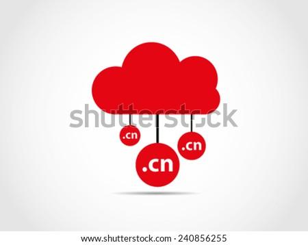 Cloud Computing China - stock vector