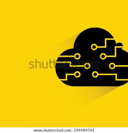 cloud computing, cloud storage, big data concept - stock vector