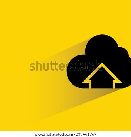 cloud computing, cloud uploading symbol - stock vector