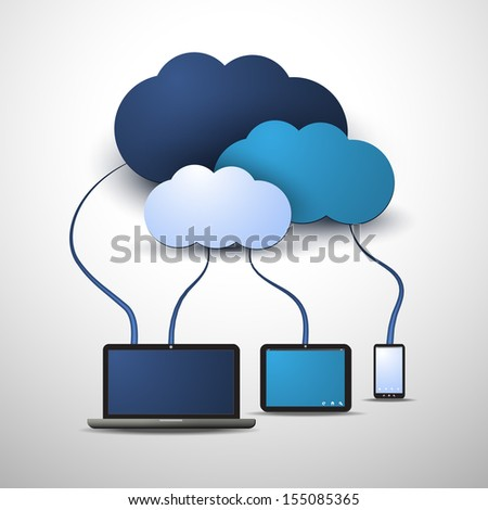 Cloud Computing Concept - stock vector