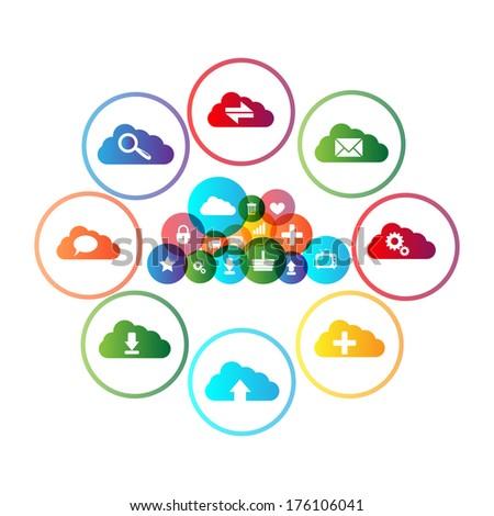 Cloud computing concept design - stock vector