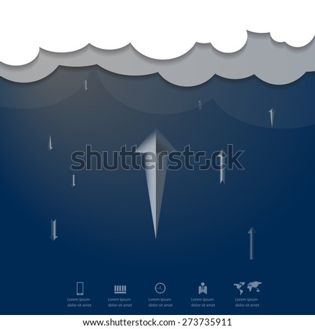 Cloud computing concept, upload download, eps vector - stock vector