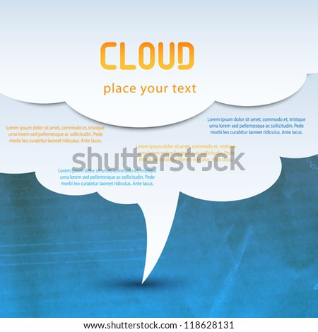 cloud computing concept. Vector - stock vector