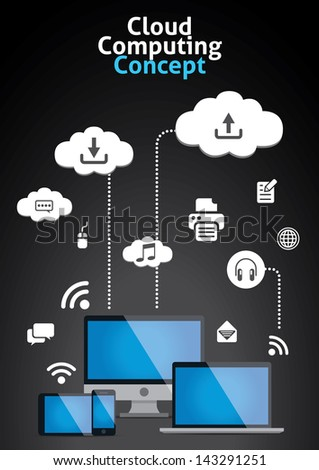 Cloud Computing Concept Vector Illustration - stock vector