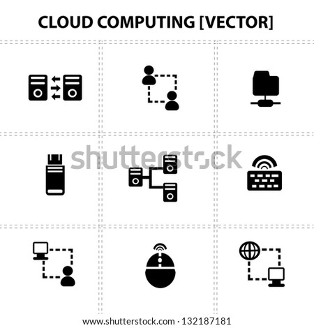 Cloud computing,connection,icons,vector - stock vector