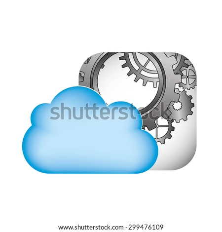 cloud computing  design, vector illustration eps10 graphic  - stock vector