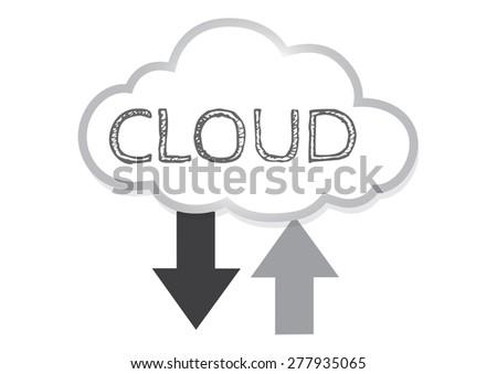 Cloud computing icon - stock vector
