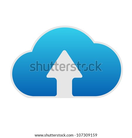 Cloud Computing Icon, Isolated On White Background, Vector Illustration - stock vector