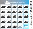 cloud computing icon set - stock