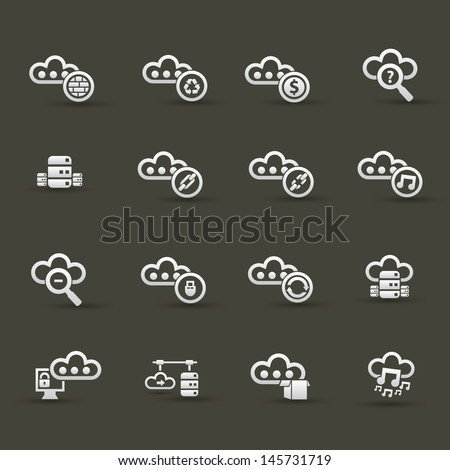 Cloud computing icons,Set 2,vector - stock vector
