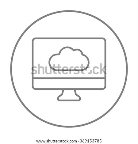 Cloud computing line icon. - stock vector