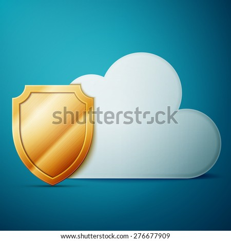 Cloud computing, security. Excellent vector illustration, EPS 10 - stock vector