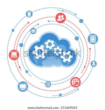 Cloud, computing, service illustration. - stock vector