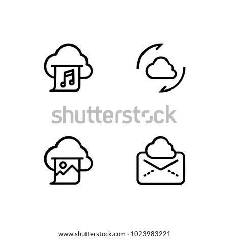 cloud computing set icons eps 10 stock vector 1023983221 shutterstock