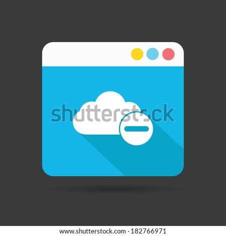 Cloud computing symbol,vector - stock vector