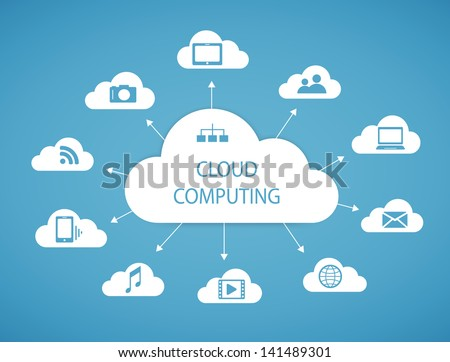 Cloud computing technology abstract scheme eps10 vector illustration