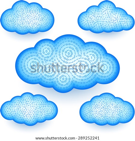 Cloud computing technology storage with a digital binary data; Eps10 - stock vector
