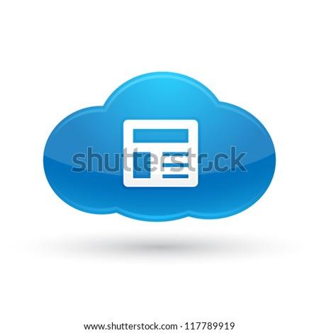 Cloud Content Icon : Cloud Computing Concept - stock vector