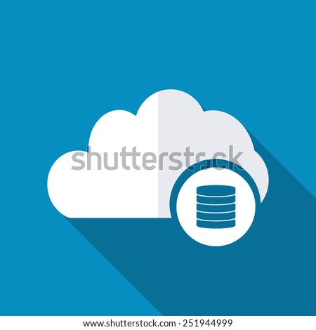 Cloud Database Icon - stock vector