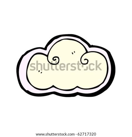 cloud design element - stock vector