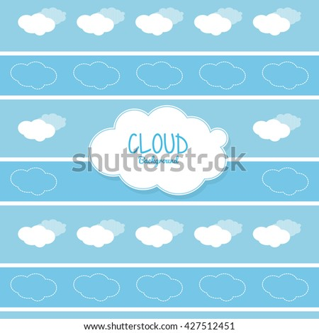 Cloud design. Weather icon. Colorful illustration