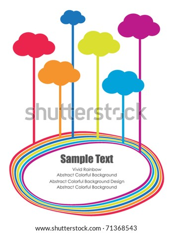 cloud frame - stock vector