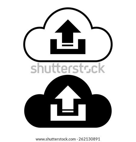 Cloud icon set - stock vector