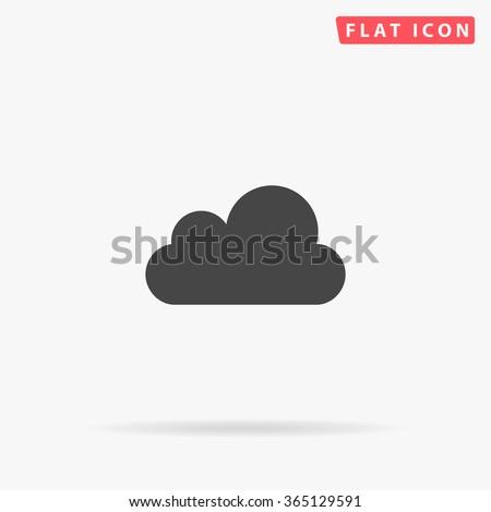 Cloud Icon Vector.  - stock vector