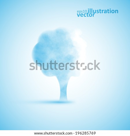 Cloud in the form of a tree, creative vector illustration eps10 - stock vector