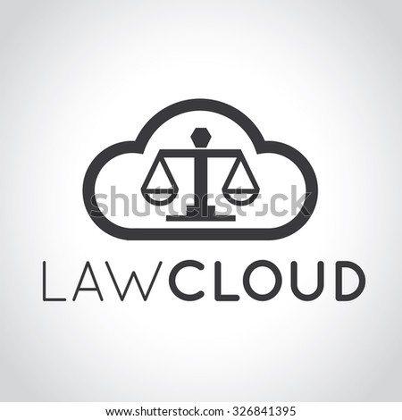 Cloud Law,Law firm logo,Lawyer Logo,Legal logo,Cloud Logo,Vector Logo Template - stock vector